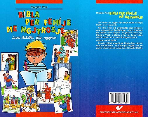 Kinder-Mal-Bibel in Albanisch